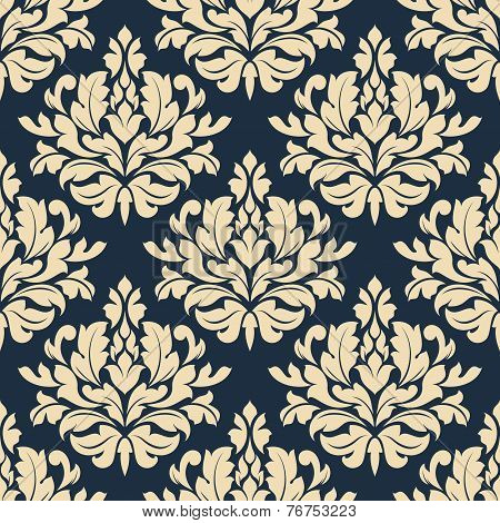 Close up seamless arabesque floral pattern