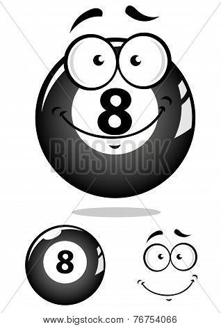 Gray eight pool ball character