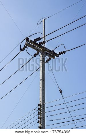 Electricity Post And Illegal Electricity Connections
