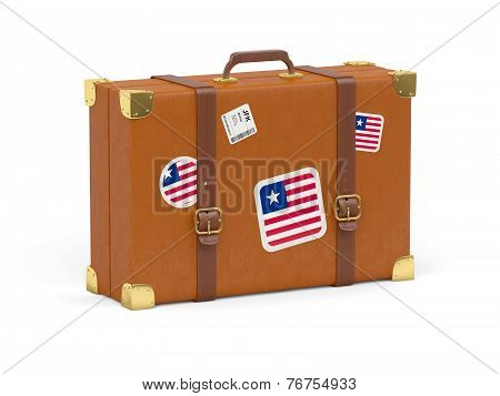 Suitcase With Flag Of Liberia
