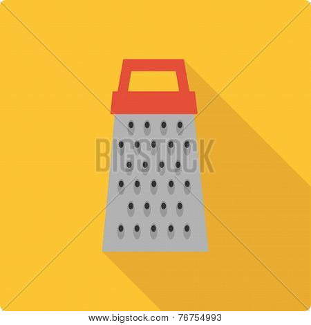 Grater simple flat vector illustration