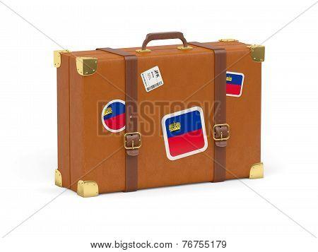 Suitcase With Flag Of Liechtenstein
