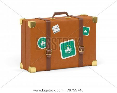 Suitcase With Flag Of Macao