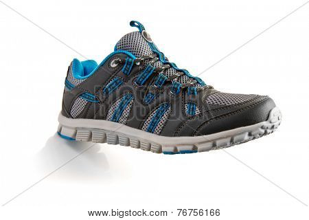 outdoors trainers over a white background