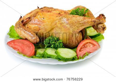 Roast Chicken on dish