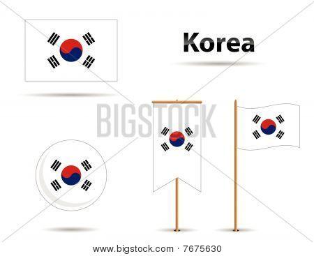 Korea Flags