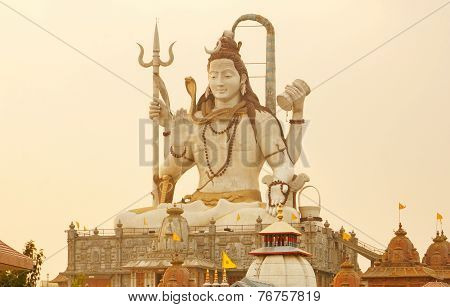 Shiva Statue At Sunset