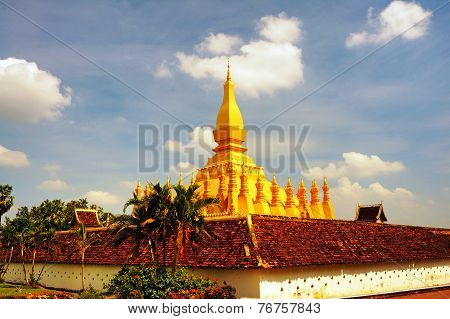 Golden Buddhist Stupa