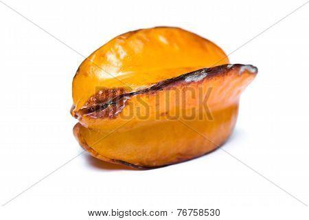Over-ripe Starfruit On A White Background