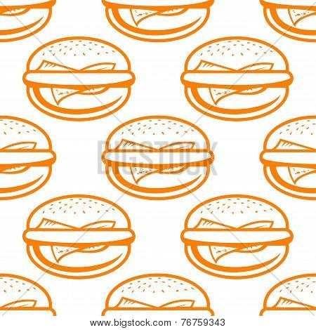Cheeseburger seamless pattern