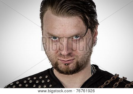 The man with angry look