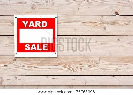 Red Yard Sale Sign