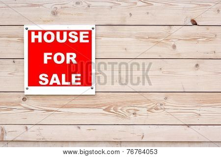 House For Sale Red White Sign