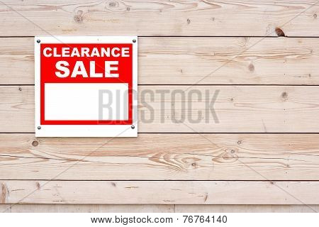 Clearance Sale Red White Sign