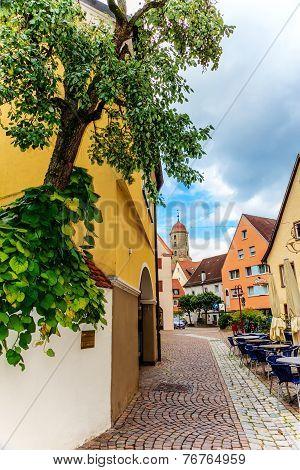 Cityscape of Ellwangen, Germany