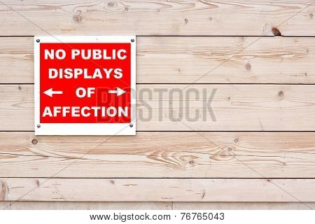 Warning No Pda  No Public Display Of Affection Sign