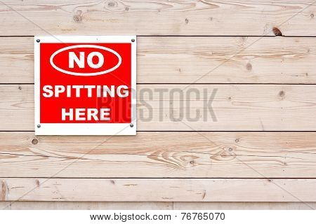 No Spitting Here Sign