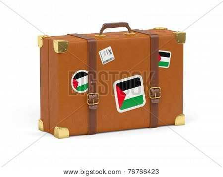 Suitcase With Flag Of Palestinian Territory