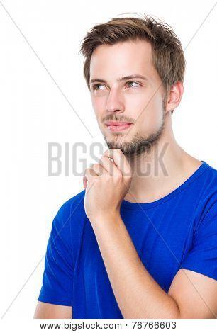 Man think of something