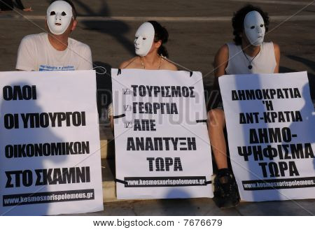 Protesting In Athens