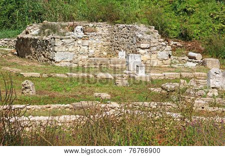 Ancient Ruins In Dion, Greece