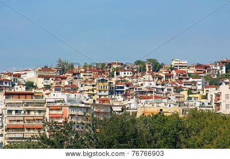 Houses In Thessaloniki City, Greece