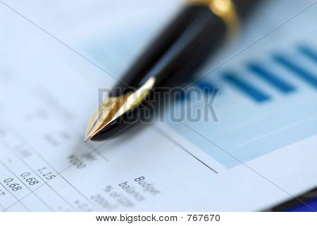 Gráfico de Finanzas de pluma
