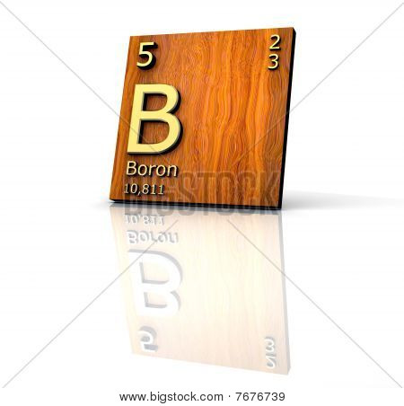 Boron From Periodic Table Of Elements