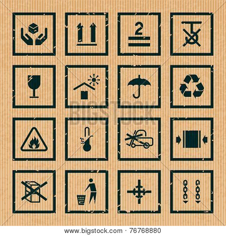 Handling and packing symbols
