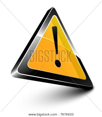 yellow alert symbol
