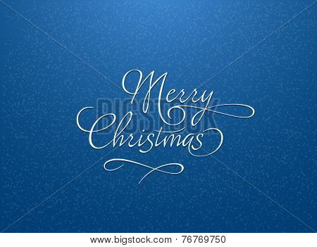 Blue Christmas background with snowflakes. Christmas greeting card with snowflakes. Vector illustration