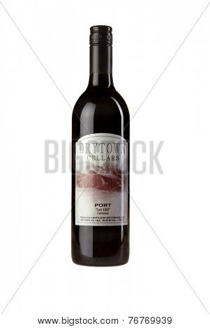 Hayward, Ca - November 23, 2014: 750mL bottle of Drytown Cellars Port