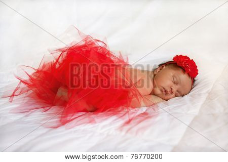 Black Newborn Baby Sleeping