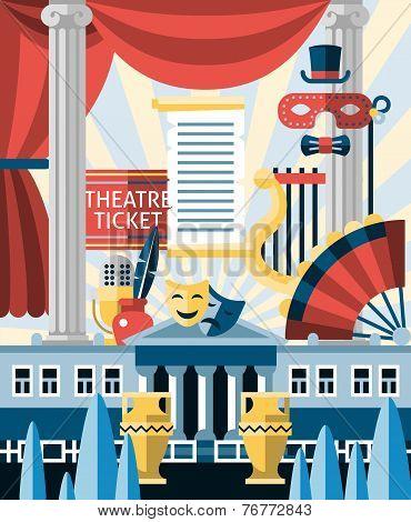 Theatre icons concept