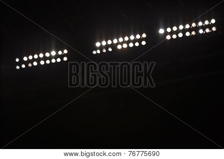 Stadium Floodlights With Copy Space