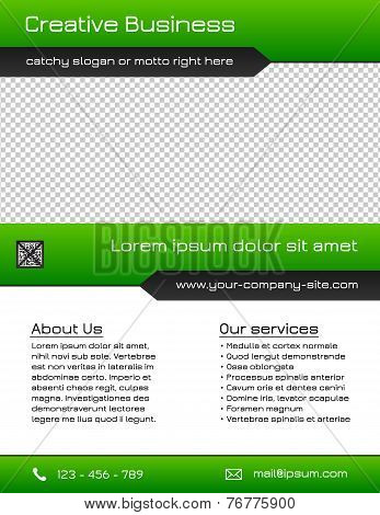 Business multipurpose flyer template - green