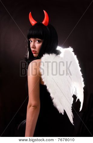 Woman Is An Angel And  Devil