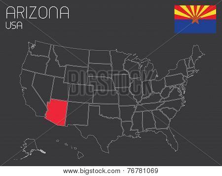 Usa-states-selectedstate_ Arizona