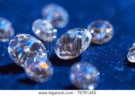 diamonds on blue background
