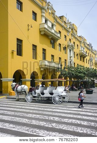 Historic Center Of Lima In Peru
