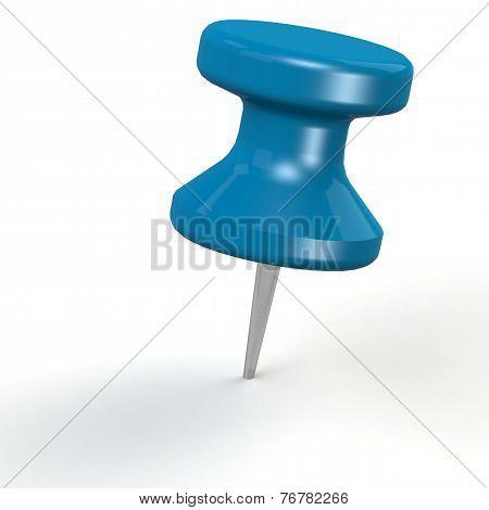 Blue Thumb Pin