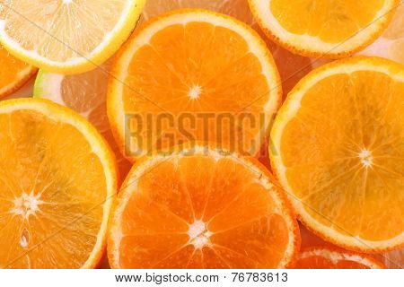 Oranges and sweetie close up