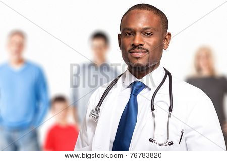 Portrait of a smiling family doctor