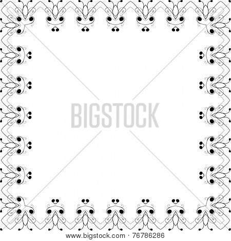 Vector decorative frame in vintage style.