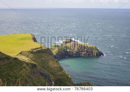 Seascape At The Carrick A Rede In Northern Ireland