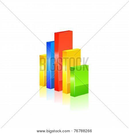 Stats icon. Vector