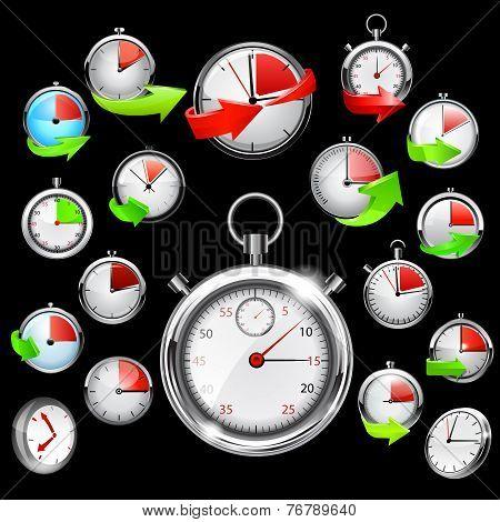 Stop watch, vector illustration