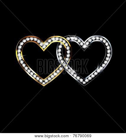 Two Jewelery Hearts