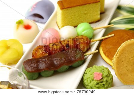 Various Japanese style confectionery