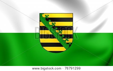 Flag Of Saxony, Germany.